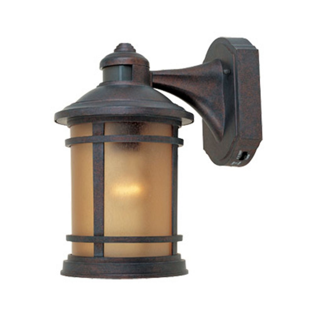 Landscape Lighting Motion Sensor : Motion activated outdoor wall light with photocell sensor