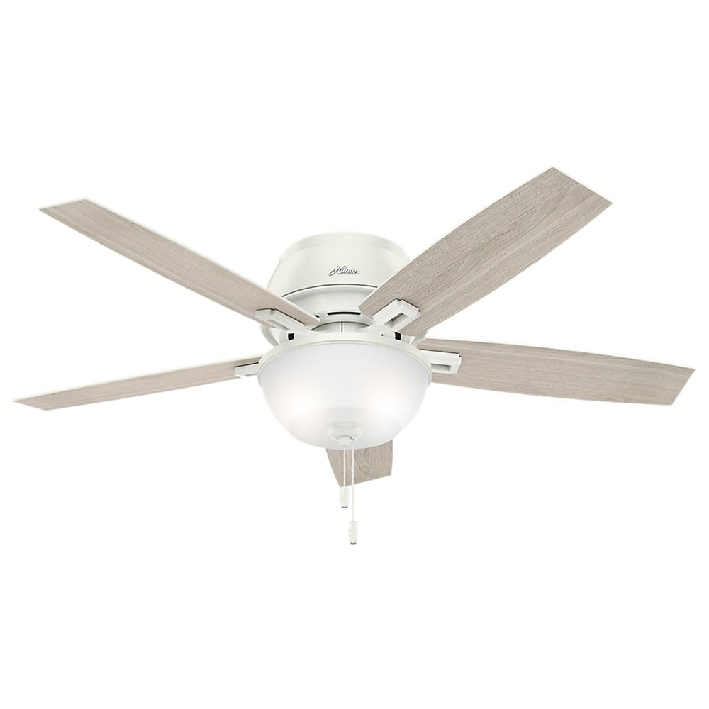 Hunter Low Profile 52 Led Ceiling Fan At Menards: 52-Inch Hunter Fan Donegan Low Profile Fresh White LED