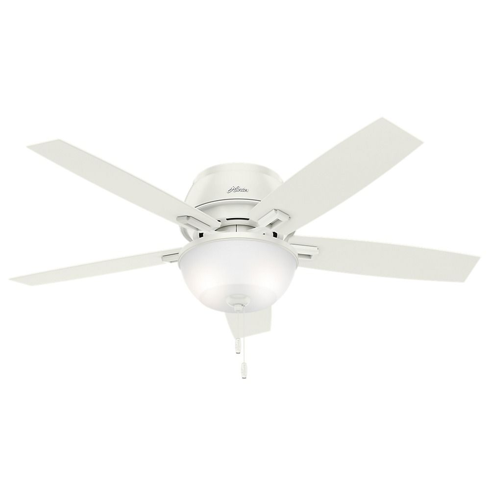52 Inch Hunter Fan Donegan Low Profile Fresh White Led