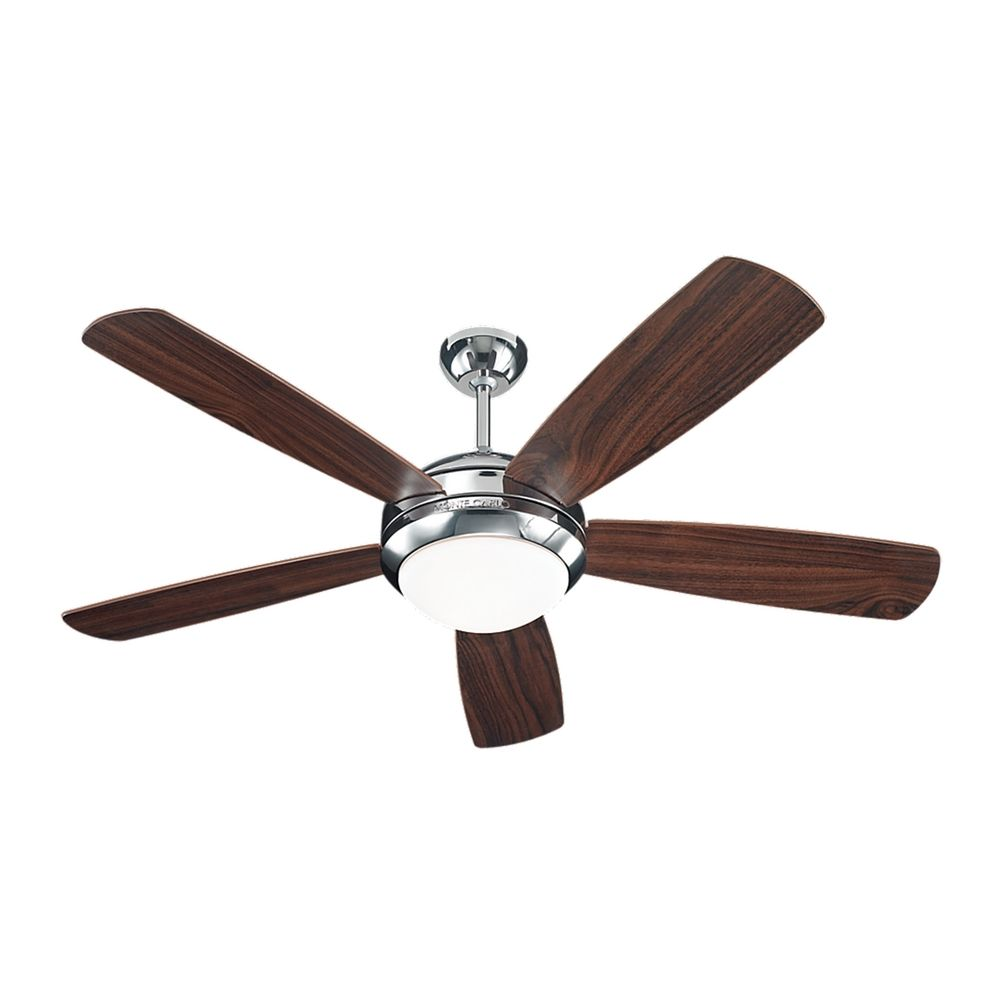 Modern ceiling fan with light with white glass in polished for White contemporary ceiling fans with lights