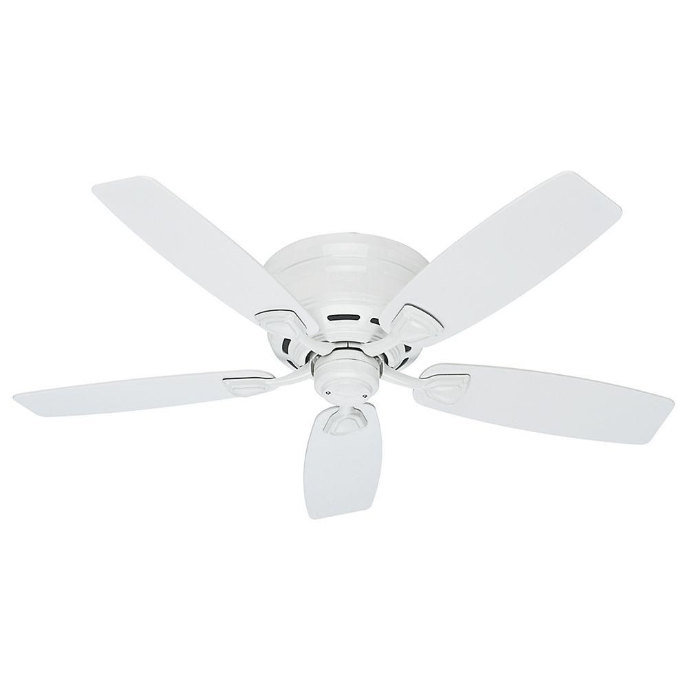 White Outdoor Ceiling Fan HUNTER FAN 53119 Sea Wind 48 Inch Free ship