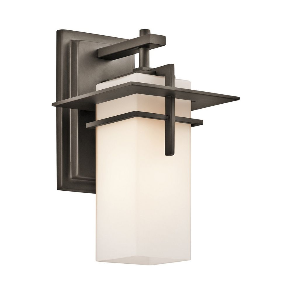 Kichler caterham outdoor wall light 49642oz for Outdoor sconce lighting fixtures