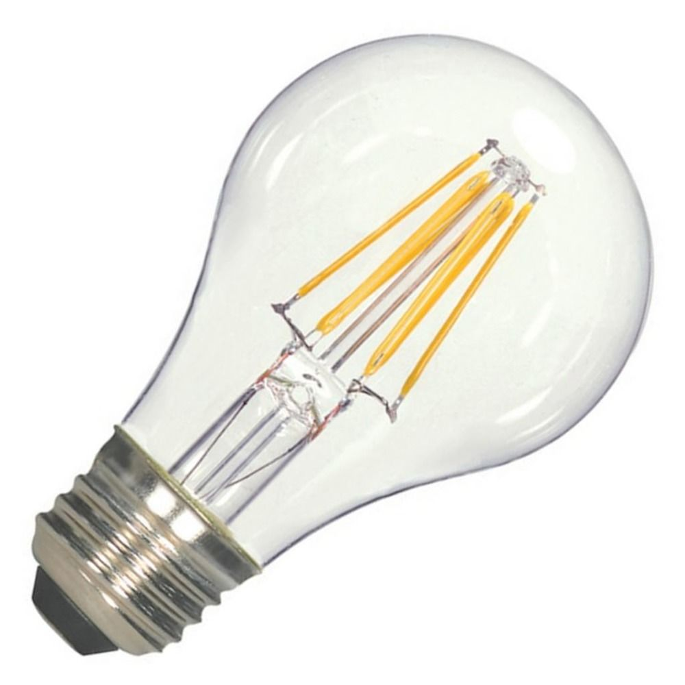 Vintage Style Carbon Filament Led A19 Light Bulb 2700k 120v 60 Watt Equiv Dimmable By Satco