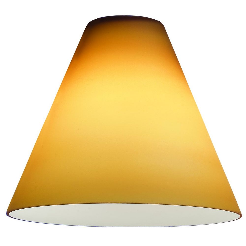 8 Lamp Shade: Access Lighting Amber Conical Glass Shade - 1-7/8-Inch Fitter Opening,Lighting