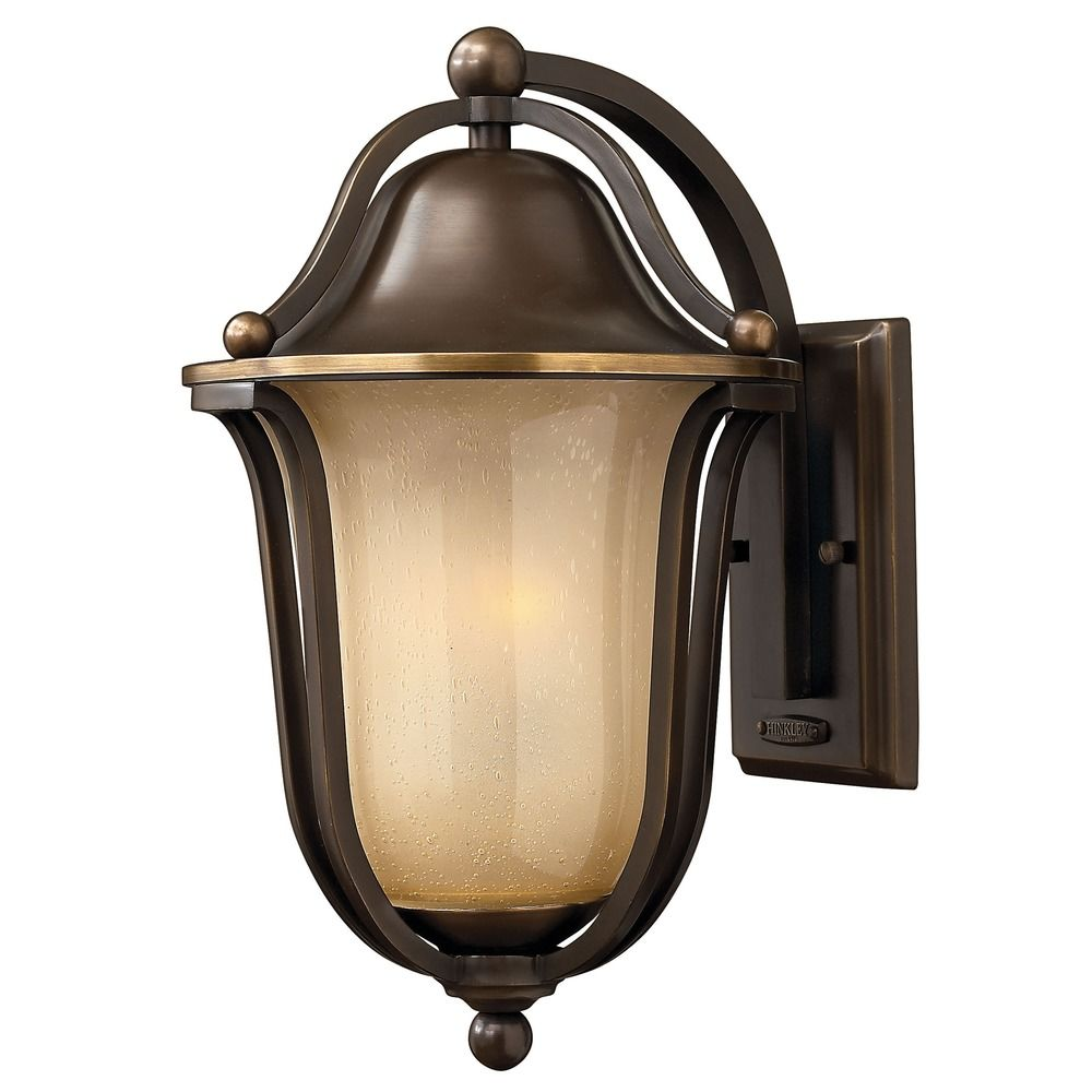 Amber Glass Wall Lights : Outdoor Wall Light with Amber Glass in Olde Bronze Finish 2634OB Destination Lighting