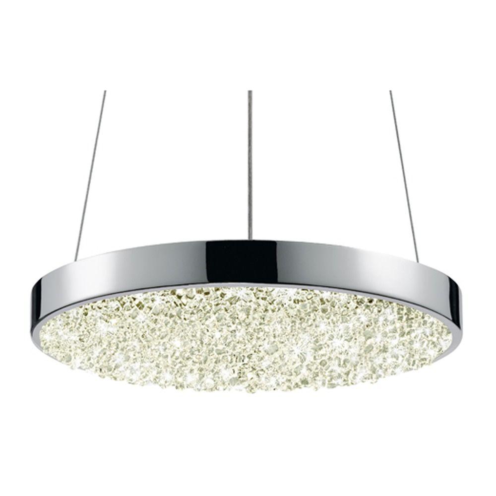 Sonneman dazzle polished chrome led pendant light with for Sonneman lighting