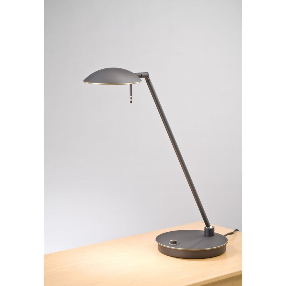 Holtkoetter modern led table lamp in hand brushed old for 12v table lamp
