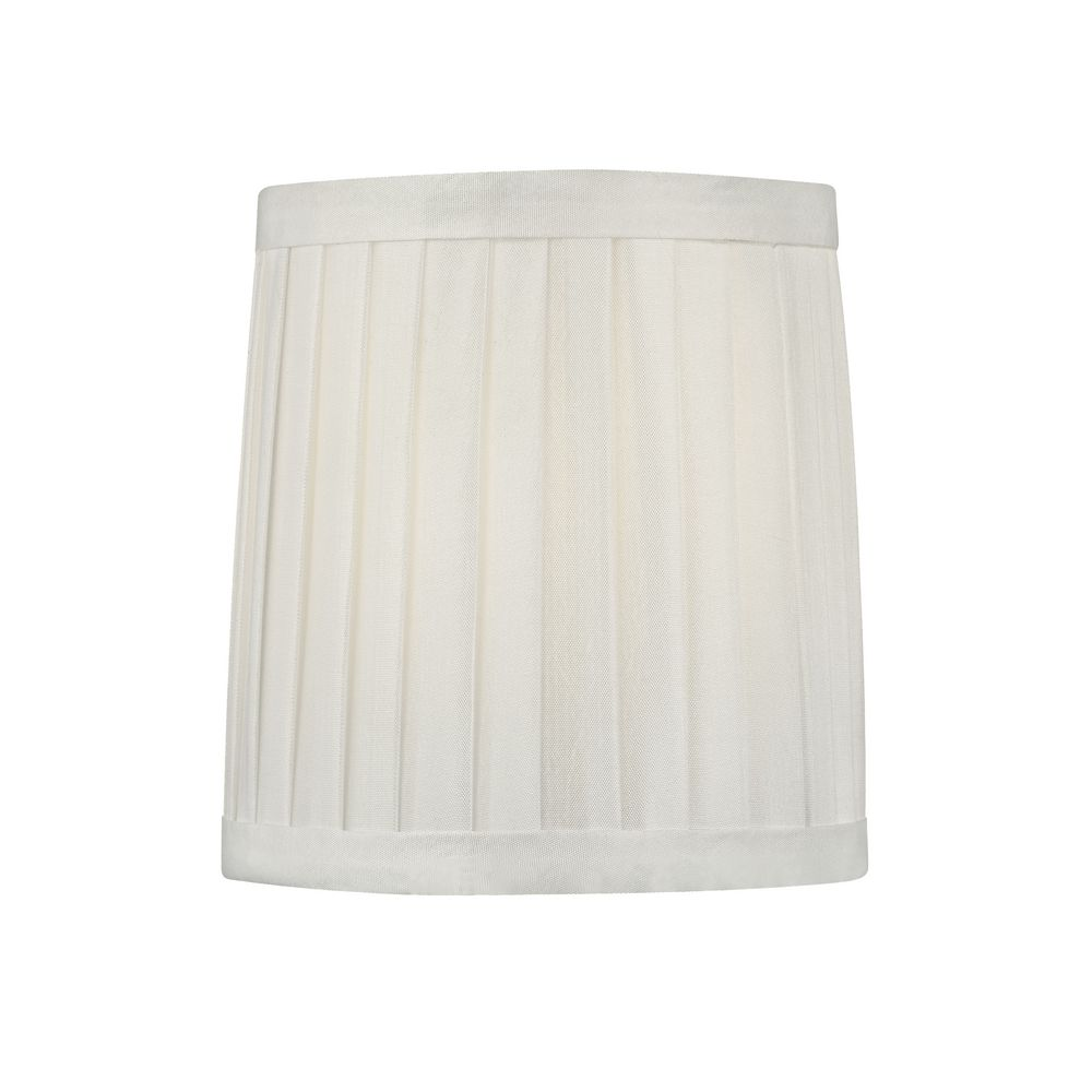 lighting pleated white drum lamp shade with clip on assembly sh9567. Black Bedroom Furniture Sets. Home Design Ideas