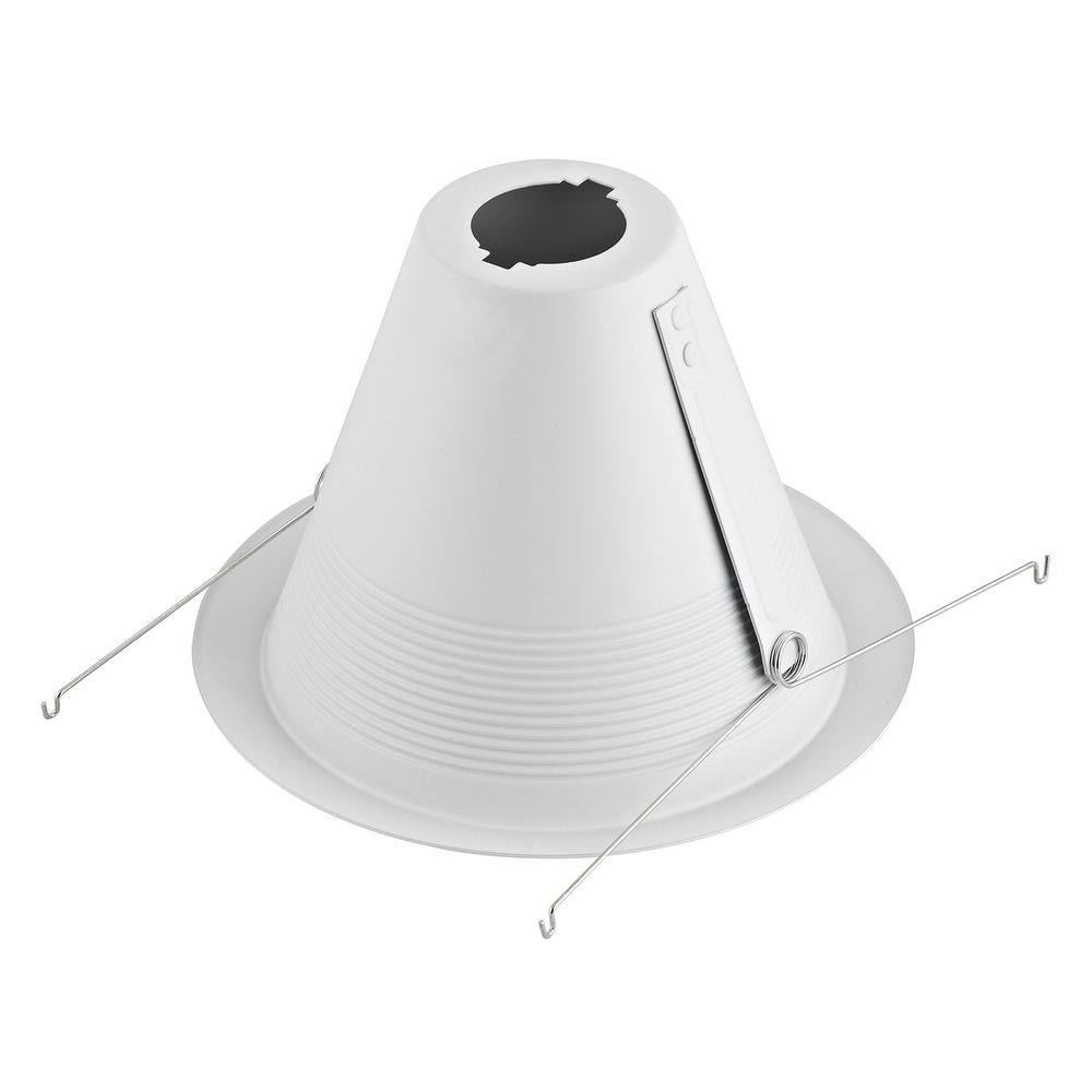 white baffle cone trim for 6inch recessed cans alt1