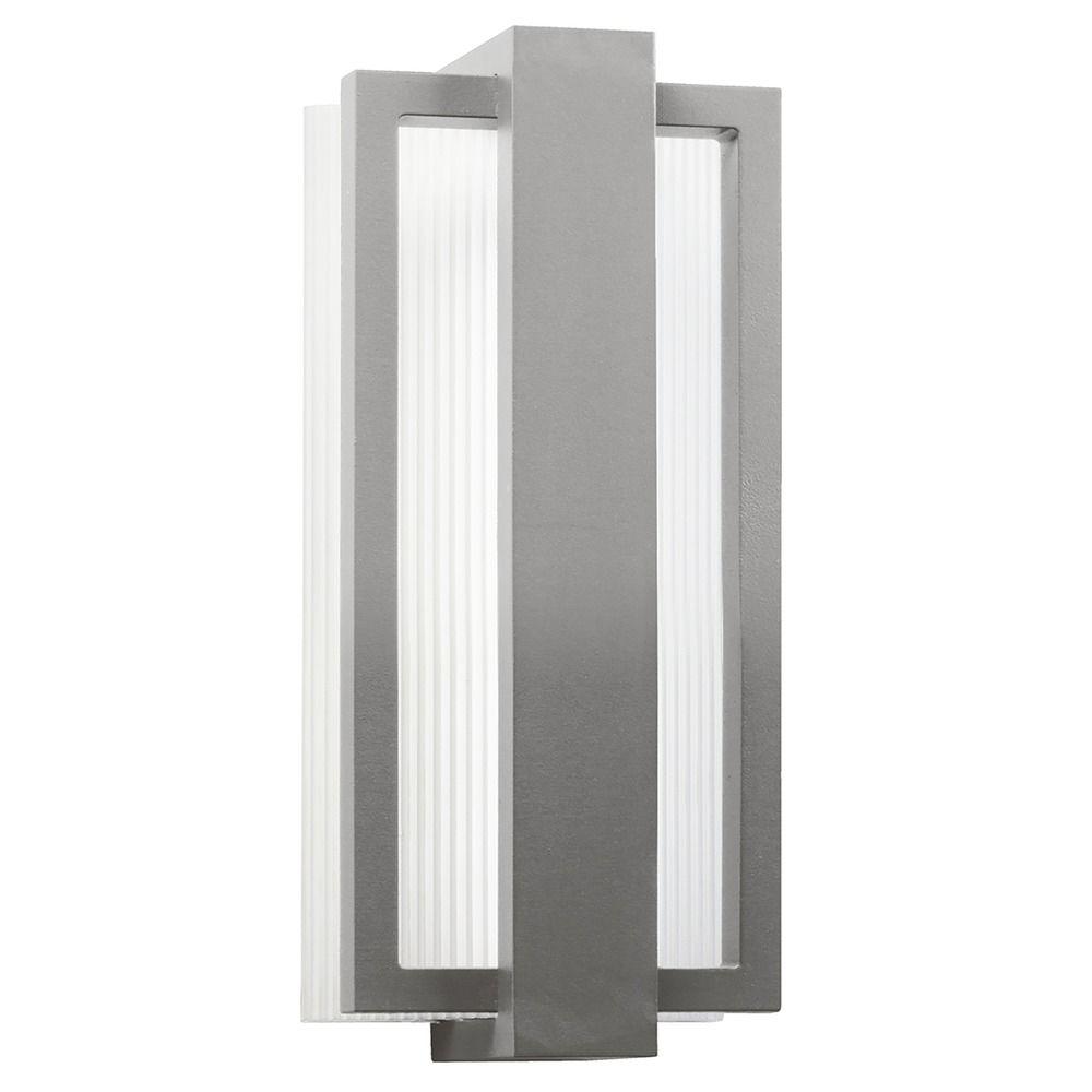 kichler lighting kichler lighting sedo platinum led outdoor wall light. Black Bedroom Furniture Sets. Home Design Ideas