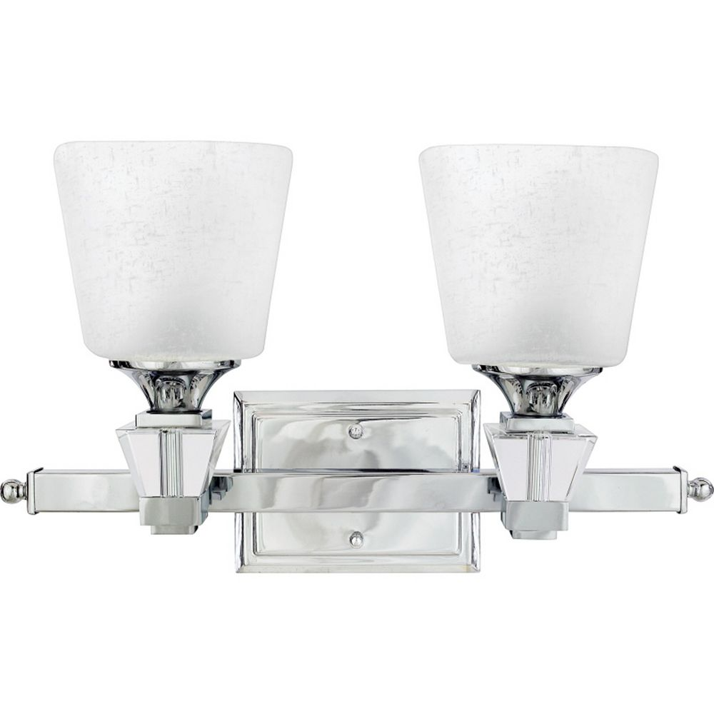 Bathroom Wall Sconce With Electrical Outlet Home Design: Modern Bathroom Light In Polished Chrome Finish