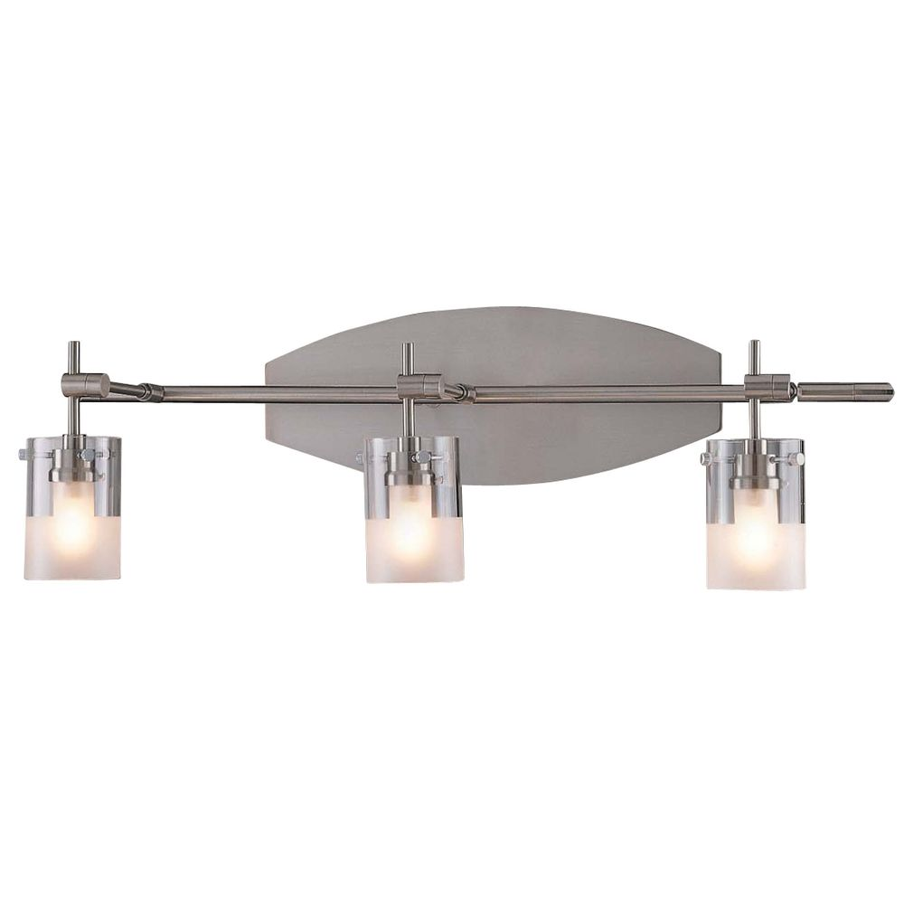 Three light bathroom vanity light p5013 084 for Bathroom vanity lights