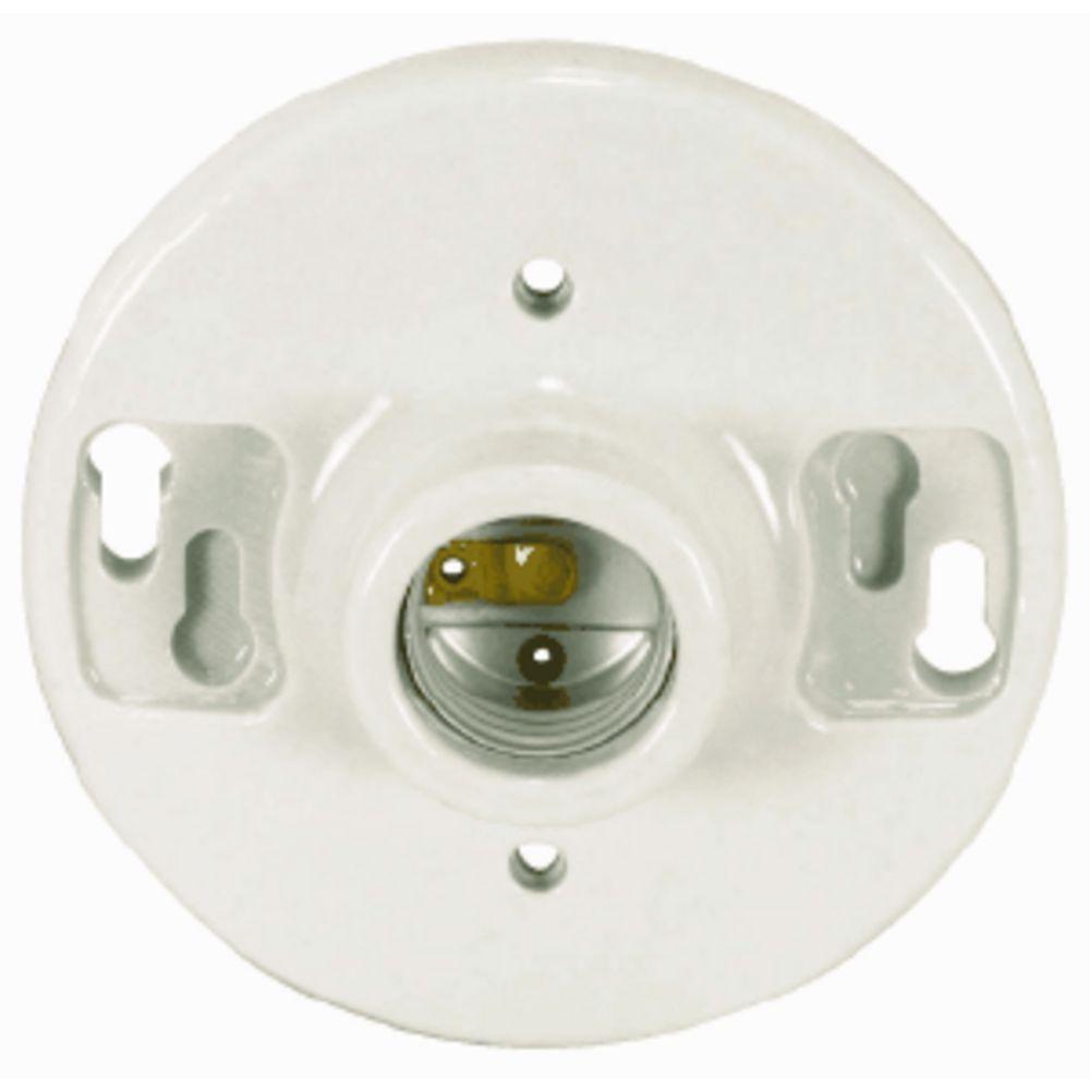 Keyless Ceiling Receptacle With Medium Base Socket 90