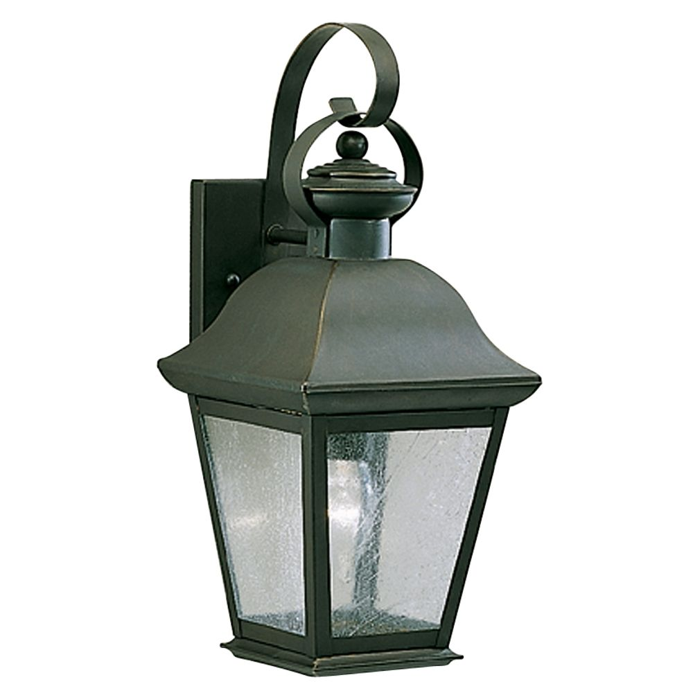 Kichler 16-1/2-Inch Outdoor Wall Light with Clear Seeded Glass 9708OZ Destination Lighting