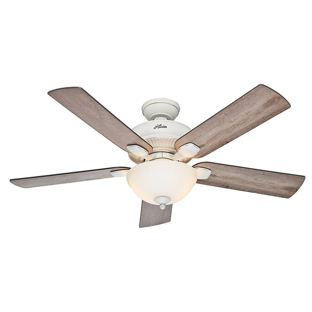 Hunter Fan Company Matheston Cottage White Ceiling Fan