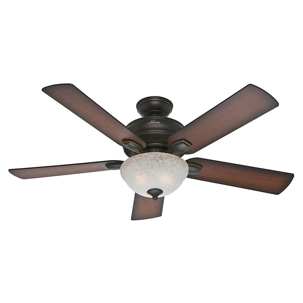 Hunter Outdoor Ceiling Fans With Lights: Hunter Fan Company Matheston Onyx Bengal Ceiling Fan With