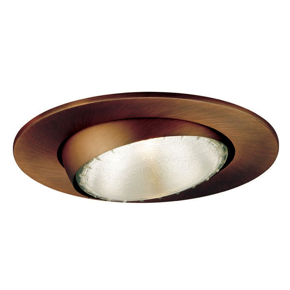 wac lighting 5 round eyeball gimbal ring copper bronze recessed trim. Black Bedroom Furniture Sets. Home Design Ideas
