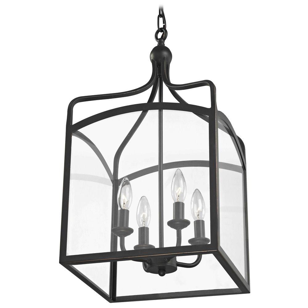 Foyer Light Switch: Preston Large Square Lantern Pendant Entryway Light