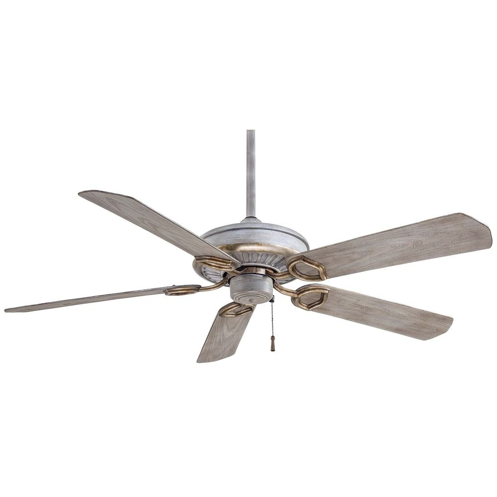 Minka Aire Fans Sundowner Driftwood Ceiling Fan Without Light : F589-DRF : Destination Lighting