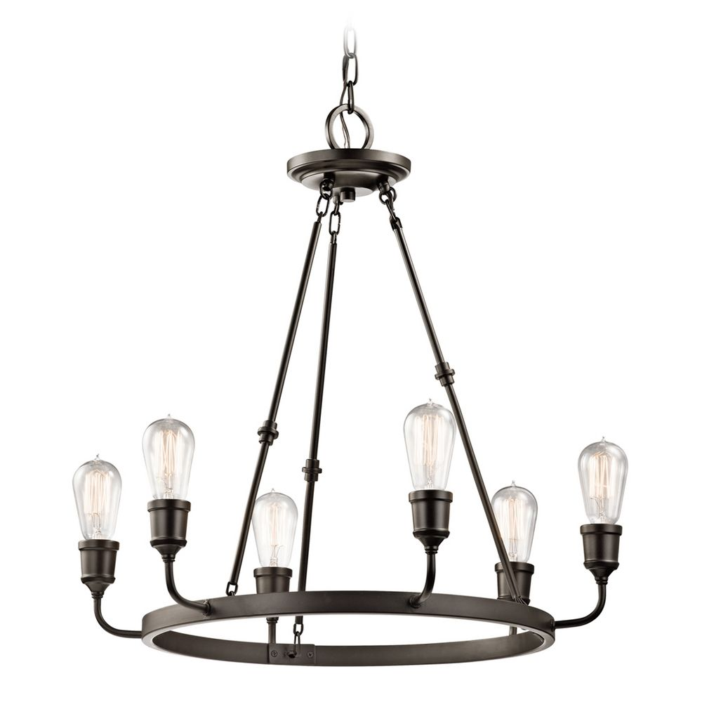 Kichler Lamps: Kichler Lighting Lucien Olde Bronze Chandelier