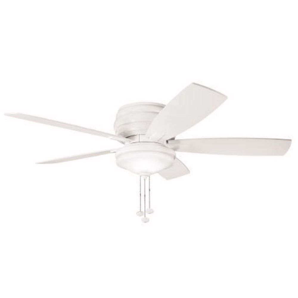 Kichler 52 inch hugger ceiling fan with five blades and light kit hover or click to zoom aloadofball Image collections