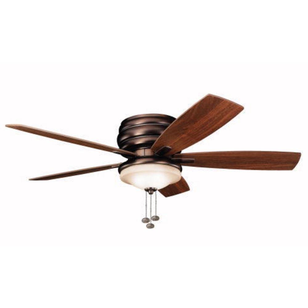 lighting kichler 52 inch hugger ceiling fan with five blades and light. Black Bedroom Furniture Sets. Home Design Ideas