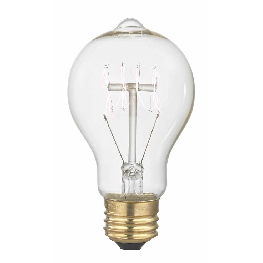 Nostalgic vintage edison carbon filament light bulb 25 watts 25a19 filament destination Light bulb wattage