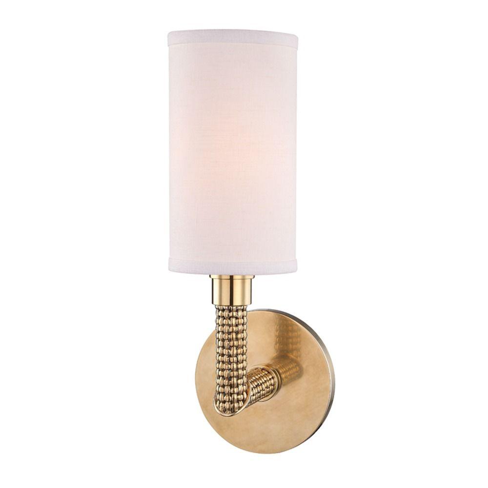 Hudson Valley Emergency Lighting: Hudson Valley Lighting Dubois Aged Brass Sconce