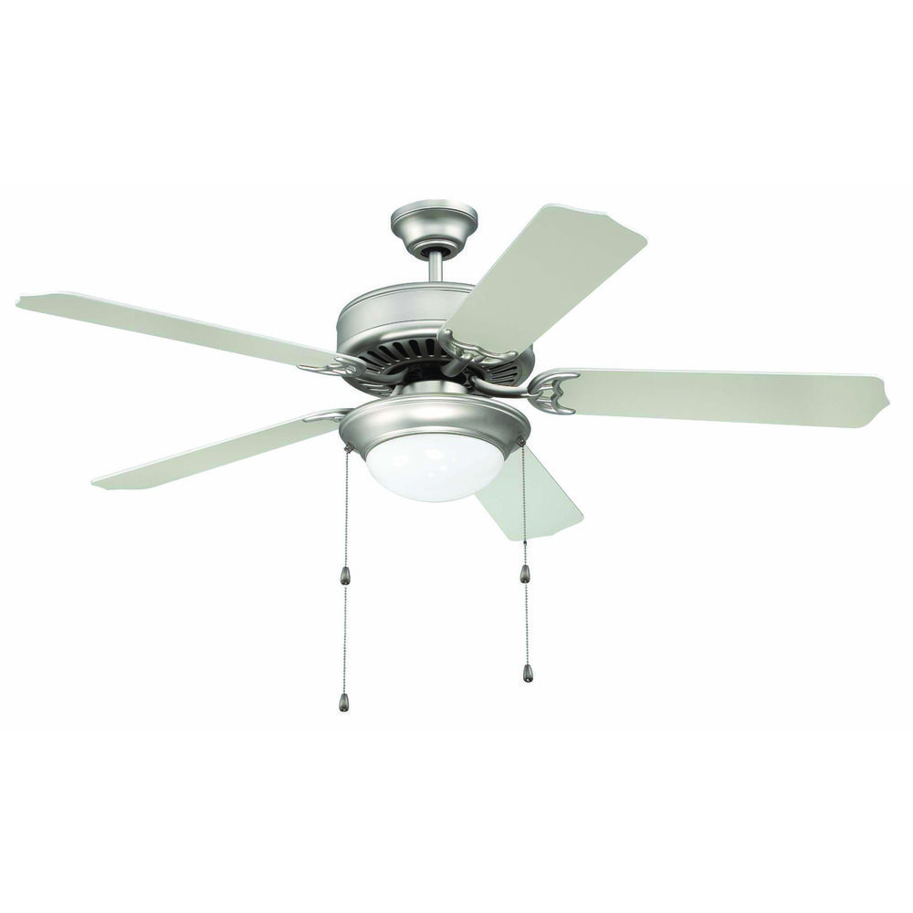 Craftmade Pro Builder 209 Brushed Satin Nickel Ceiling Fan