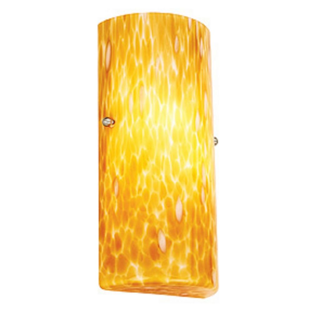 Modern Sconce Wall Light with Yellow Glass 23121-COG Destination Lighting