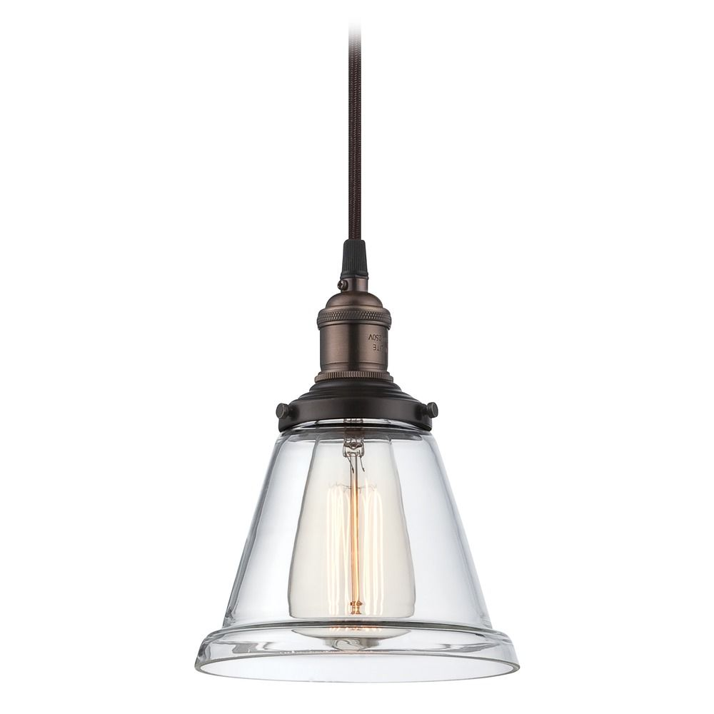 Industrial edison bulb mini pendant light bronze 65 inch by satco hover or click to zoom aloadofball Gallery