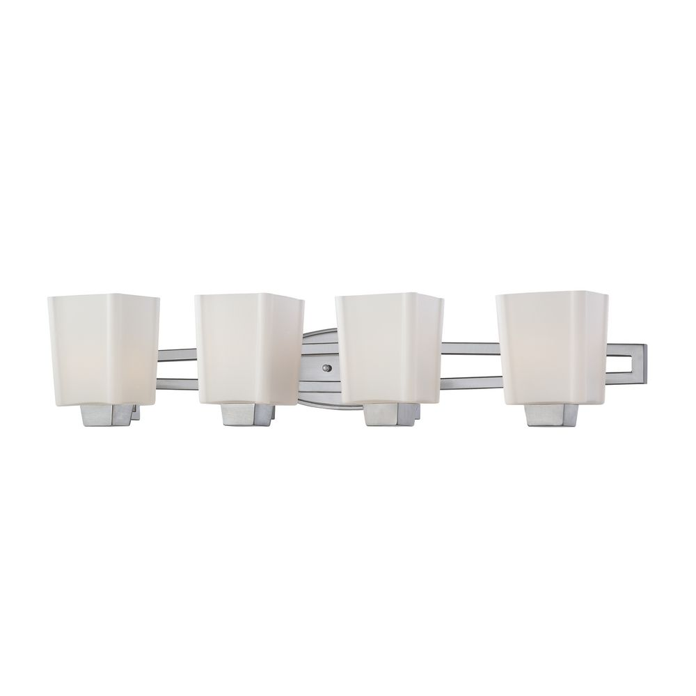 Four-Light Bathroom Vanity Light with Square Shades 3854-09 Destination Lighting