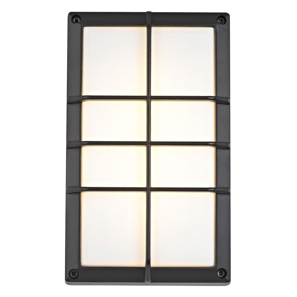Led Outside Wall Lights Black : Black LED Outdoor Wall Light eBay