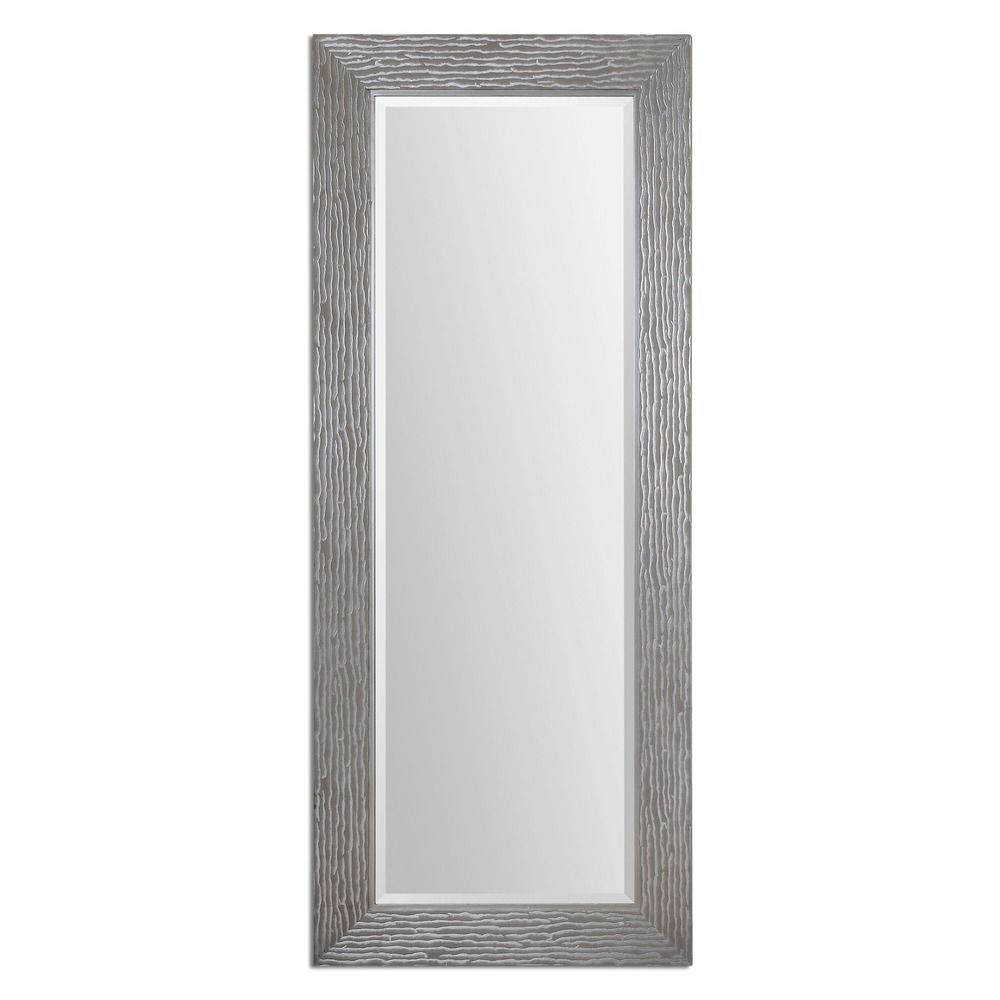 Uttermost amadeus large silver mirror 14474 for Big silver mirror