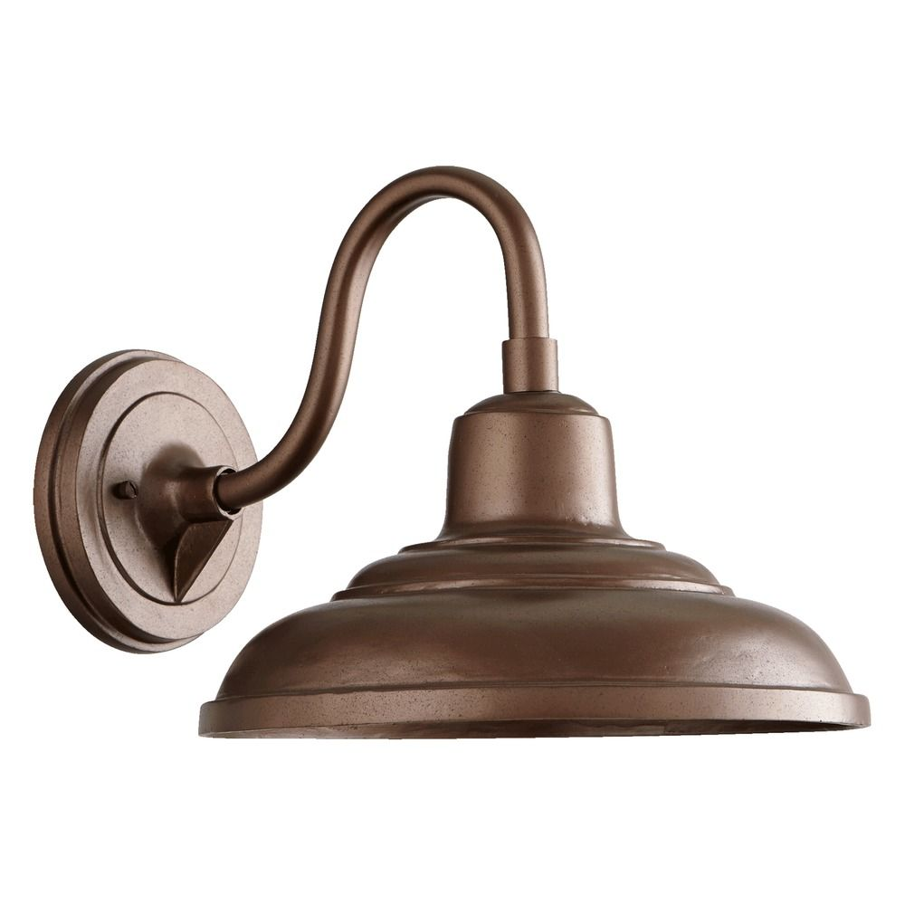 Farmhouse Outdoor Wall Light Oiled Bronze By Quorum