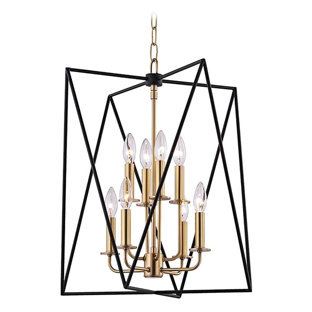Hudson Valley Emergency Lighting: Hudson Valley Lighting Laszlo Aged Brass Pendant Light