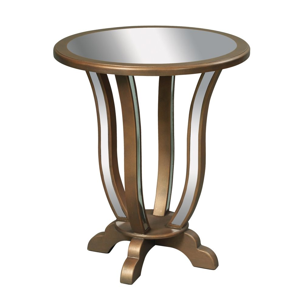 Sterling Lighting Mirrored Glass Coffee End Table 6043621 Destination Lighting