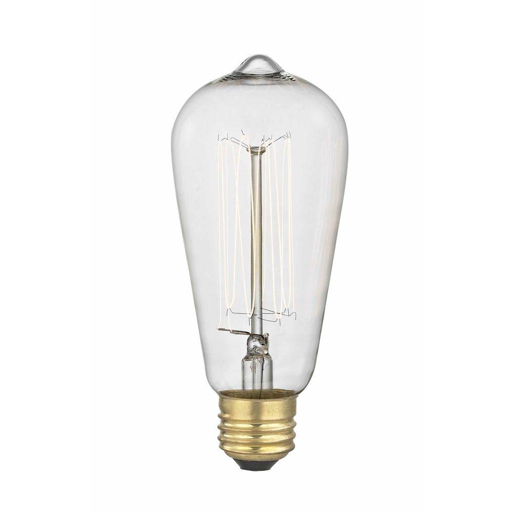 Design Classics Lighting Industrial Edison Squirrel Cage ST58 Light Bulb    60 Watts 60ST58 FILAMENT