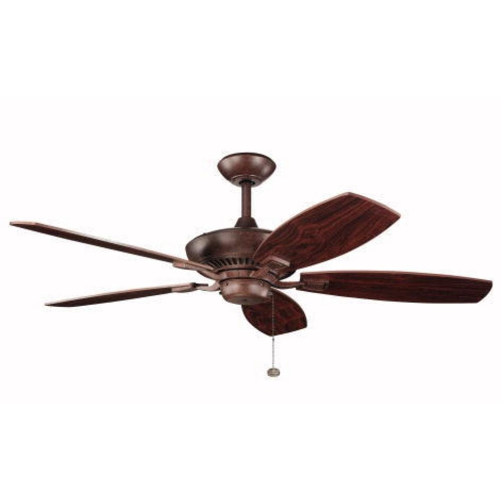 kichler 52 inch pull chain ceiling fan with five blades 300117 tz. Black Bedroom Furniture Sets. Home Design Ideas