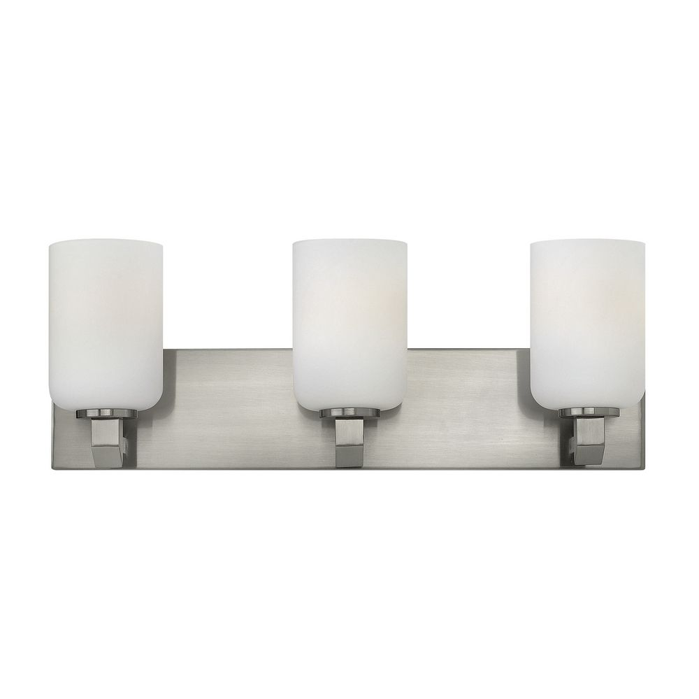 Hinkley lighting skylar brushed nickel bathroom light for Hinkley bathroom vanity lighting