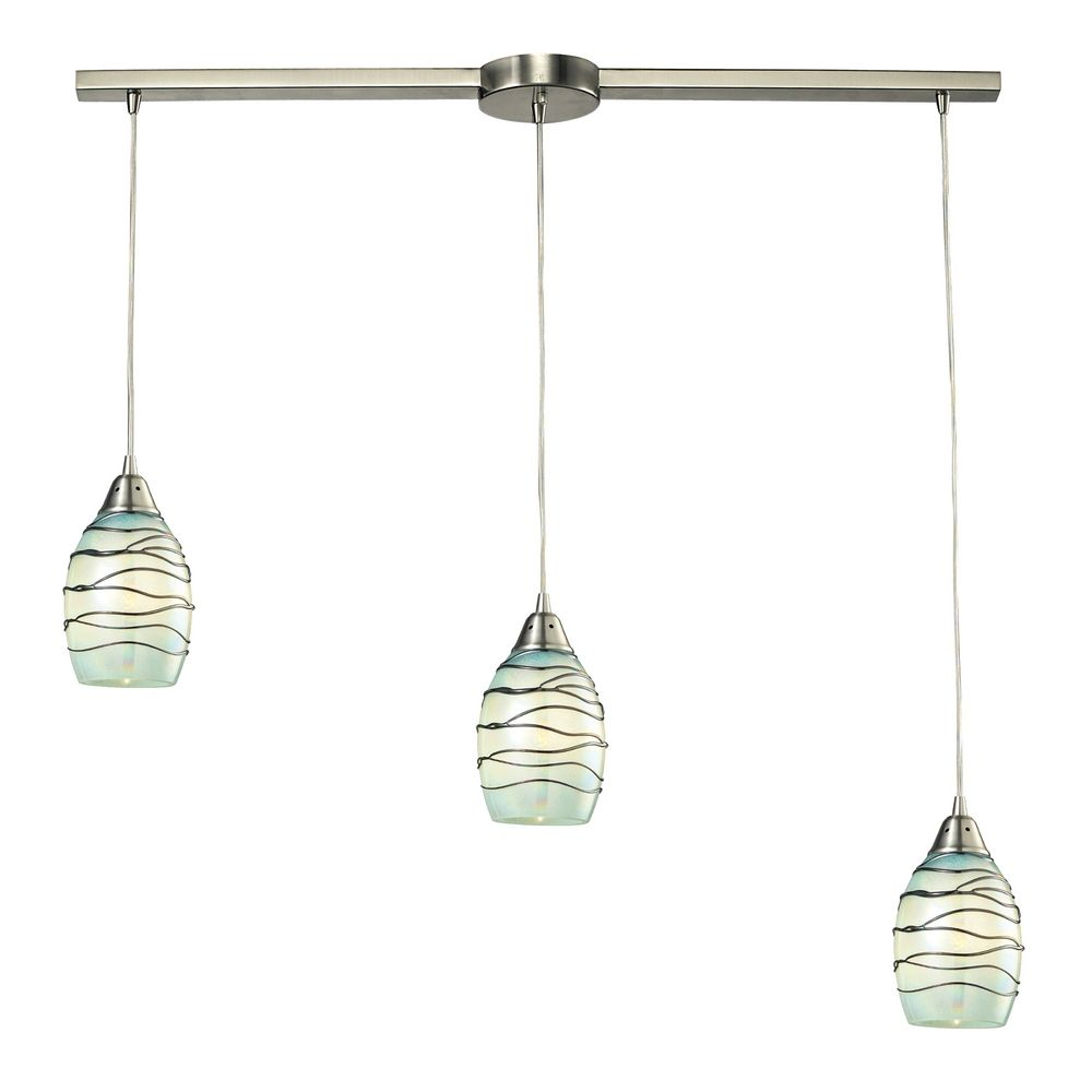 Multi light pendant light with mint green glass and 3 lights elk lighting multi light pendant light with mint green glass and 3 lights 31348 arubaitofo Images