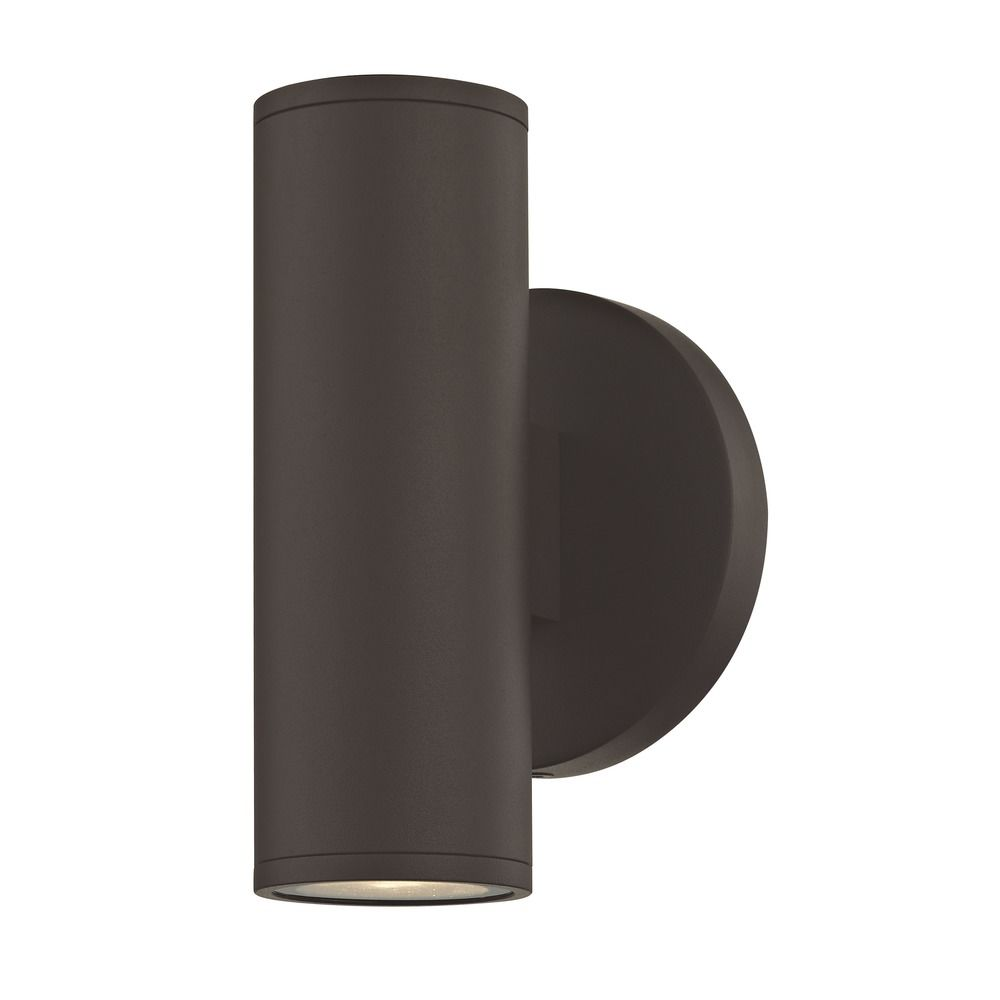 LED Cylinder Outdoor Wall Light Up / Down Bronze 3000K Alt1.
