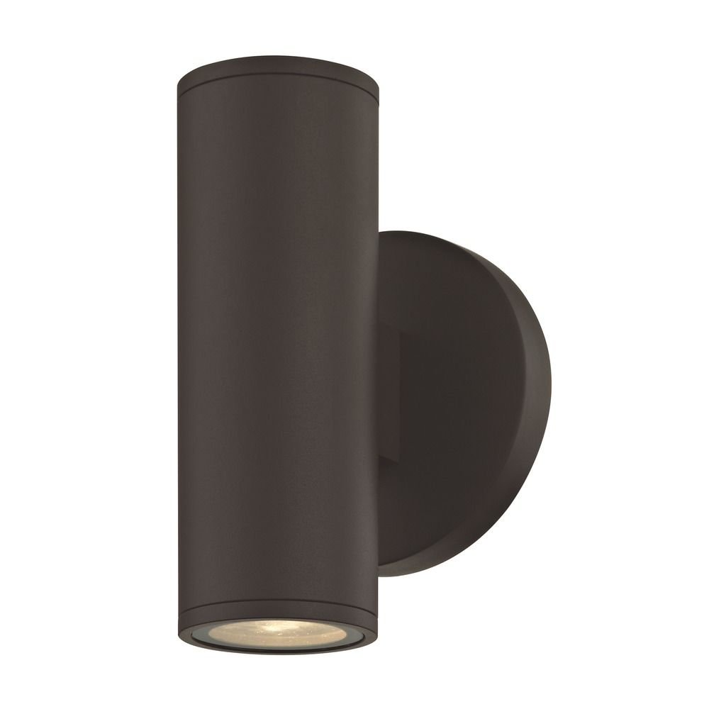 Led cylinder outdoor wall light up down bronze 3000k 1770 bz product image aloadofball Gallery