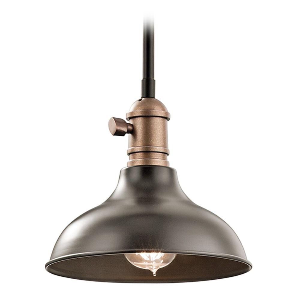 kichler lighting cobson mini pendant light with bowl dome shade 42579oz destination lighting. Black Bedroom Furniture Sets. Home Design Ideas
