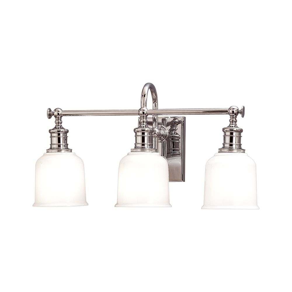 Retro Style Polished Nickel Bathroom Wall Light 1973-PC Destination Lighting