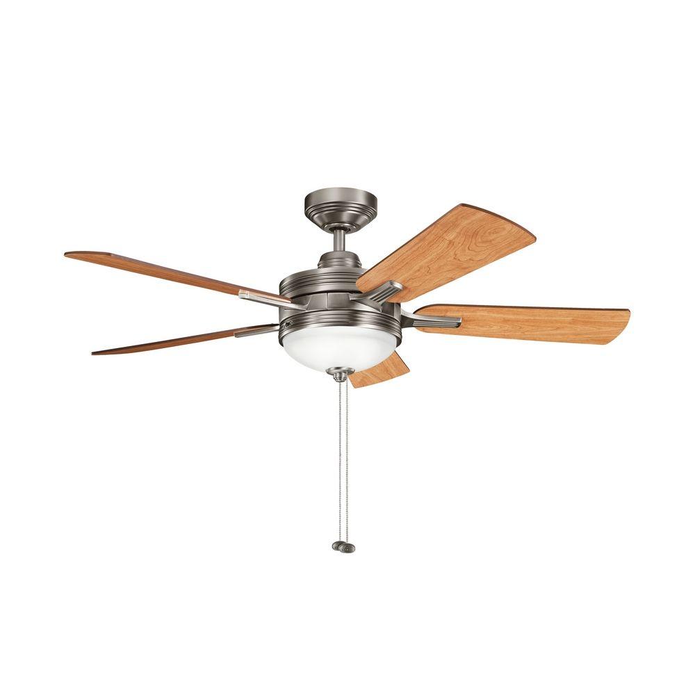 kichler lighting kichler ceiling fan with light kit in pewter finish. Black Bedroom Furniture Sets. Home Design Ideas