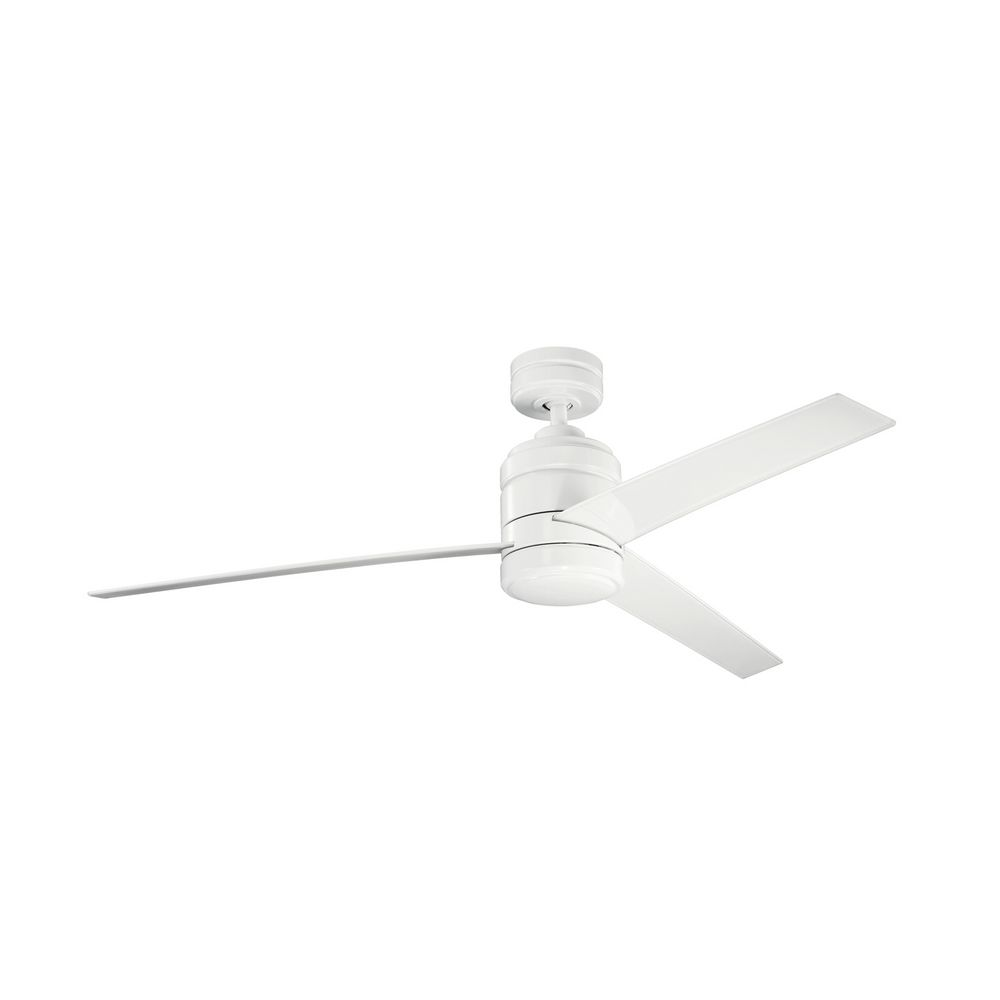 Kichler Modern Ceiling Fan Without Light In White Finish