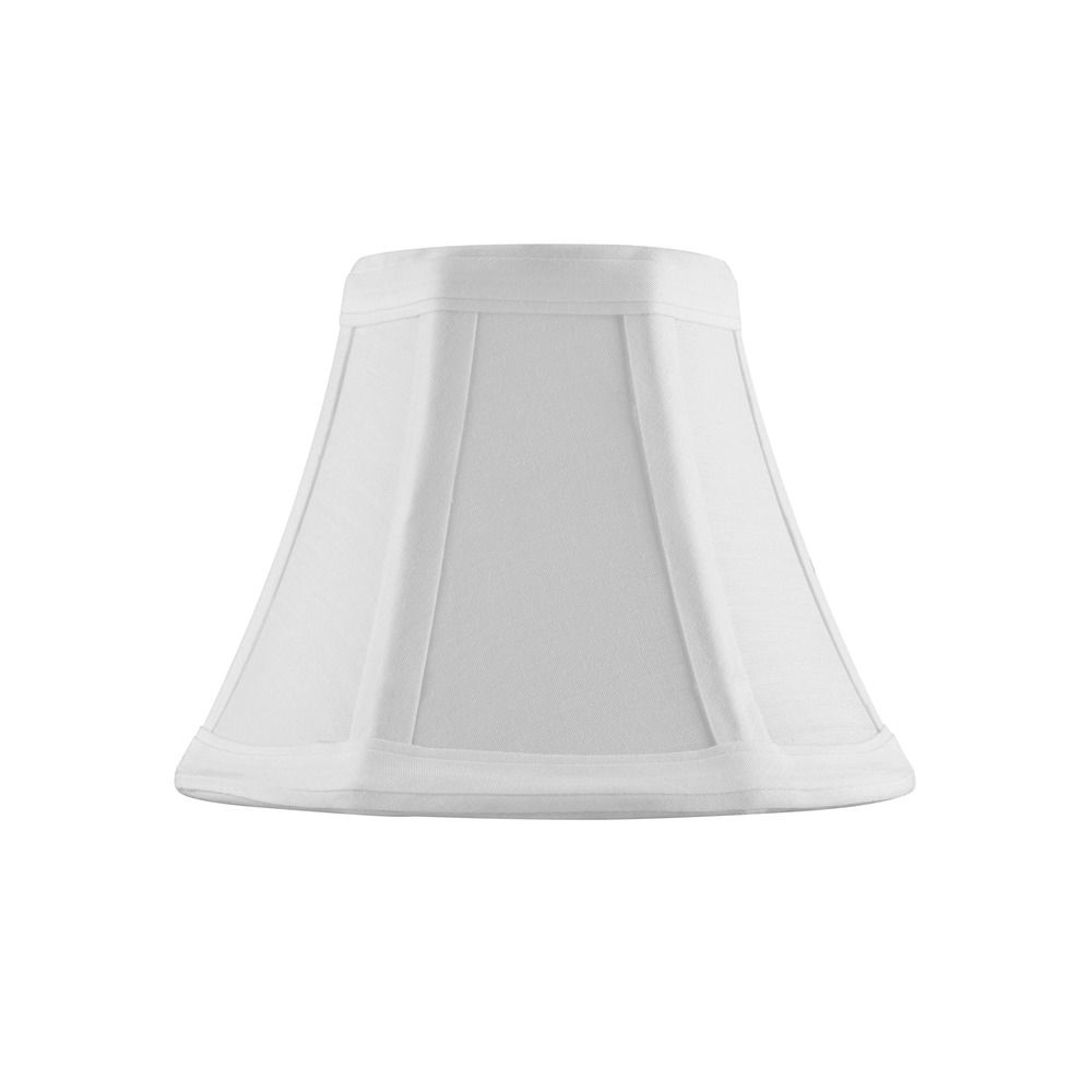 Clip On Empire Piping White Lamp Shade
