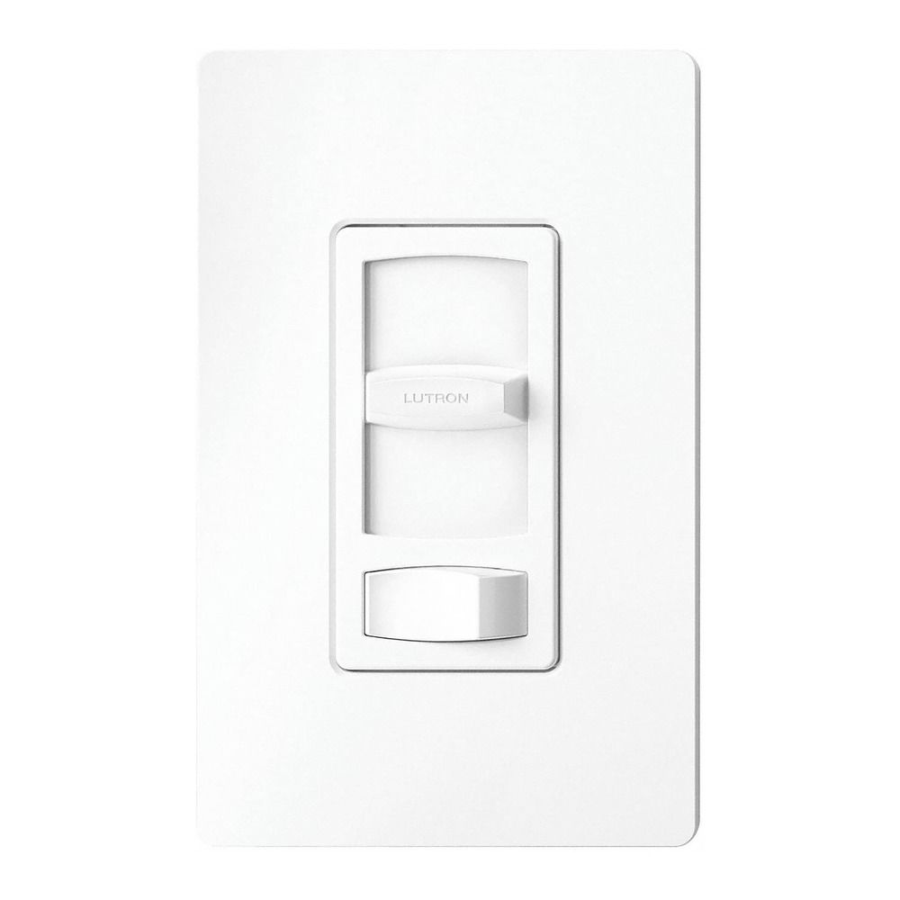 Led cfl dimmer switch by lutron ctcl 153ph wh for Lutron dimmers