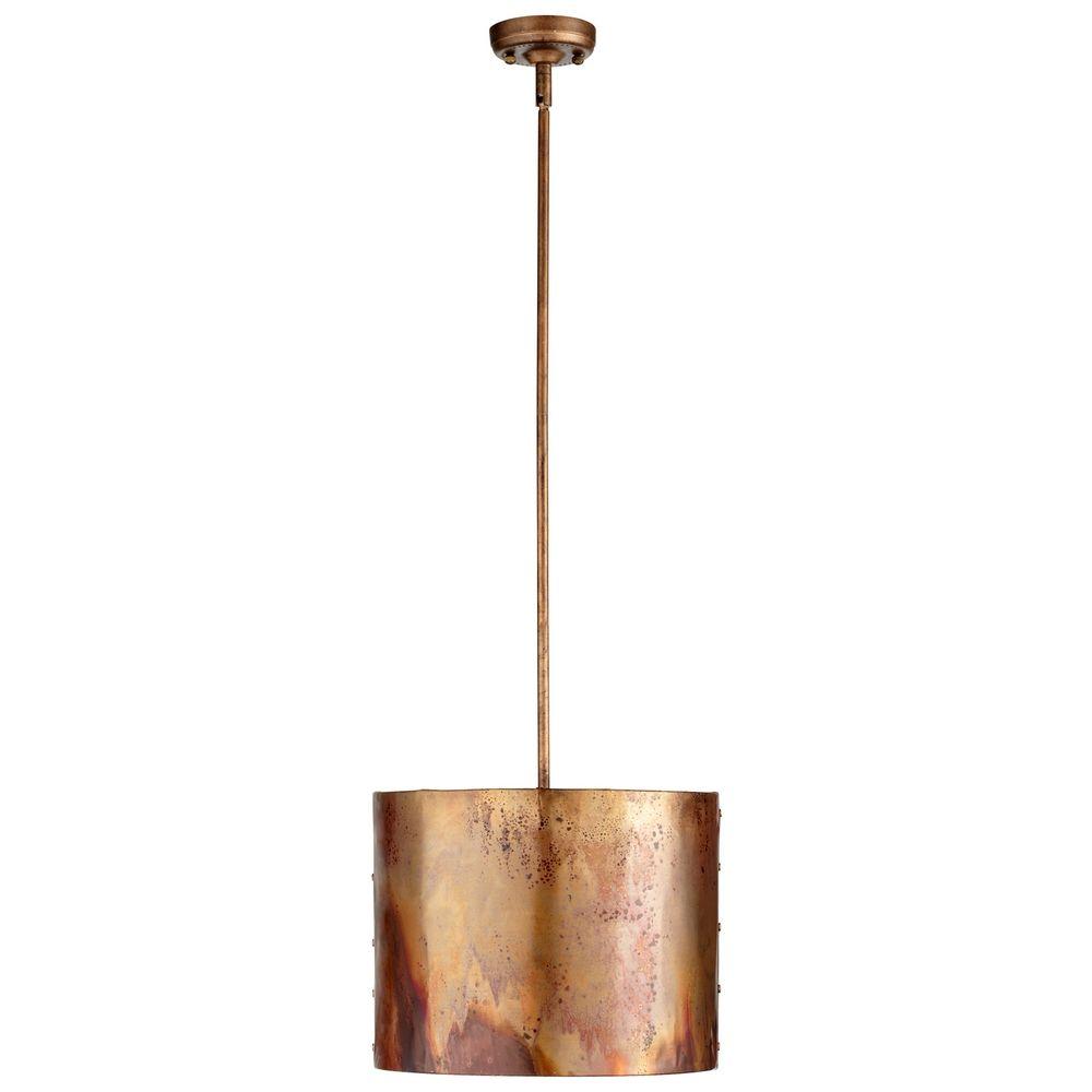 Iron And Copper Drum Pendant Light 05156 Destination